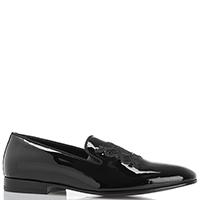 Лаковые туфли Roberto Cavalli из кожи черного цвета, фото