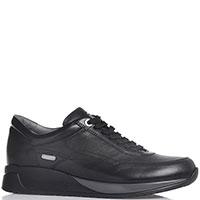 Мужские кроссовки Paciotti черного цвета с лого, фото