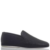 Черные туфли Giampiero Nicola без шнуровки из кожи с имитацией плетения, фото