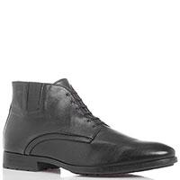 Зимние ботинки с декоративной шнуровкой Giampiero Nicola из черной кожи, фото