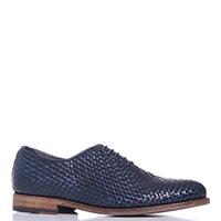 Синие туфли Dino Bigioni на шнуровке, фото