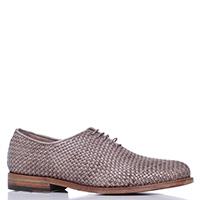Серые туфли Dino Bigioni из плетеной кожи, фото