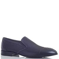 Темно-синие туфли Dino Bigioni без шнуровки с перфорацией, фото