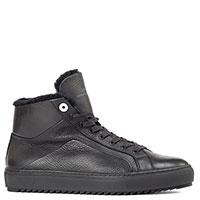 Черные ботинки Dino Bigioni с мехом, фото