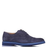 Синие туфли Dino Bigioni с мелкой перфорацией, фото
