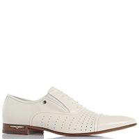 Бежевые туфли Giampiero Nicola из гладкой кожи с имитацией шнуровки, фото
