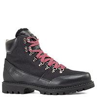 Черные ботинки Bogner с яркими шнурками, фото
