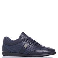 Темно-синие кроссовки Roberto Cavalli с перфорацией, фото
