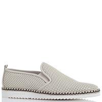 Бежевые туфли Giampiero Nicola из мягкой кожи на рельефной подошве, фото