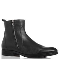 Черные кожаные ботинки Giampiero Nicola на молниях, фото