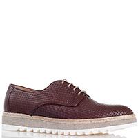 Коричневые туфли на толстой подошве Gianfranco Butteri с тиснением в виде плетения, фото