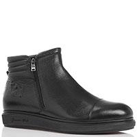 Мужские кожаные ботинки Giampiero Nicola черного цвета, фото