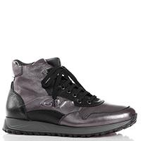 Серые ботинки Giampiero Nicola с черными вставками, фото
