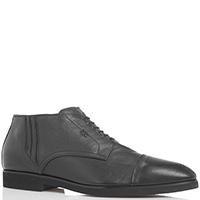 Черные ботинки на молнии Mirko Ciccioli из мелкозернистой кожи, фото