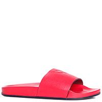 Красные шлепанцы Giampiero Nicola кожаные, фото