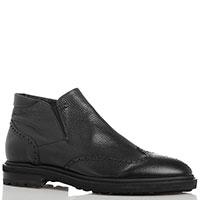 Ботинки-броги Mirko Ciccioli из черной кожи, фото