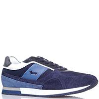 Синие кроссовки Harmont&Blaine из замши и текстиля, фото
