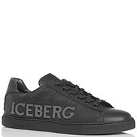Кеды черного цвета Iceberg из кожи, фото