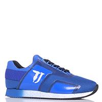 Синие кроссовки Trussardi Jeans из текстиля, фото