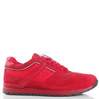 Замшевые кроссовки Harmont&Blaine красного цвета, фото