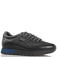 Черные кожаные кроссовки Gianfranco Butteri, фото
