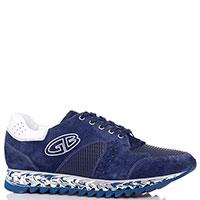 Кроссовки замшевые Gianfranco Butteri с декором-перфорацией, фото