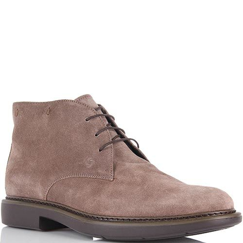 Мужские ботинки Samsonite из натуральной замши бежевые, фото