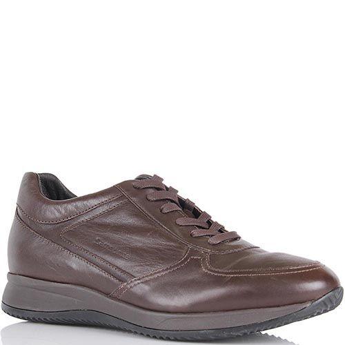 Кожаные кроссовки Samsonite коричневого цвета, фото