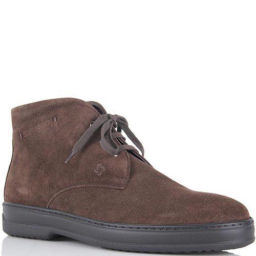 Замшевые ботинки Samsonite на высокой подошве и шнуровке, фото