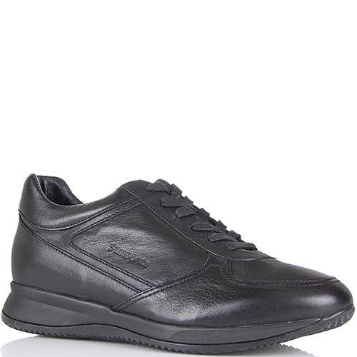 Мужские кожаные кроссовки Samsonite черного цвета, фото