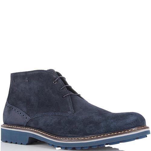Мужские ботинки Samsonite из натуральной замши темно-синего цвета, фото