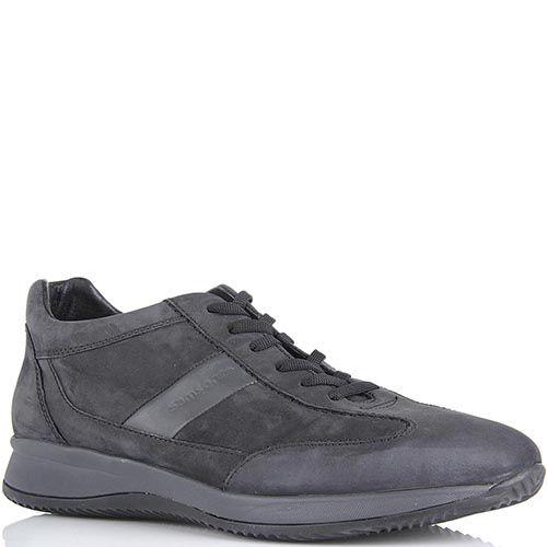 Мужские кроссовки Samsonite темно-серого цвета из нубука, фото