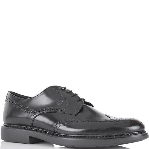 Мужские туфли Samsonite из натуральной полированной кожи черного цвета, фото