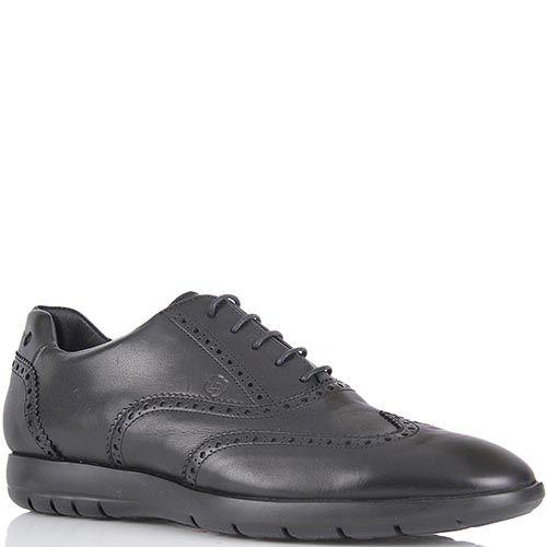 Спортивные туфли Samsonite из натуральной кожи черного цвета, фото