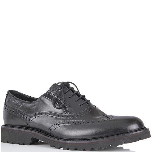 Мужские туфли-броги Samsonite из натуральной кожи черного цвета, фото