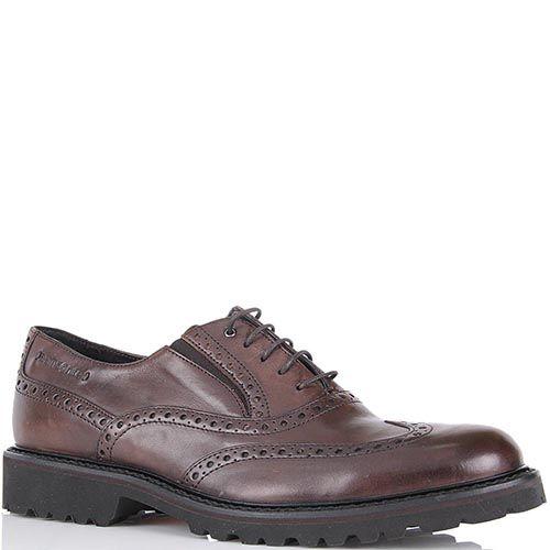 Туфли-броги Samsonite из натуральной кожи коричневого цвета, фото