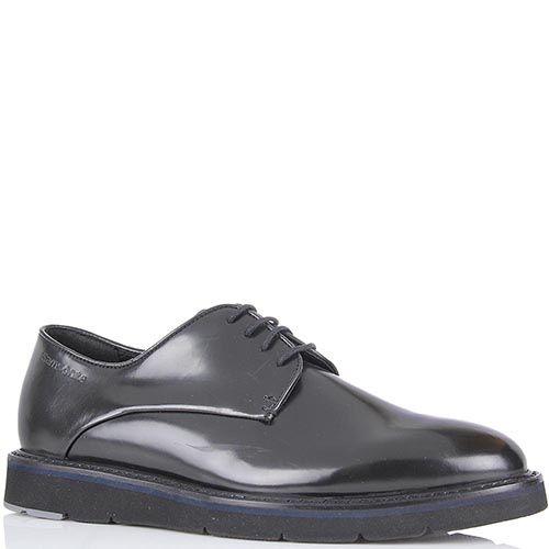 Мужские туфли Samsonite из натуральной гладкой кожи на невысокой платформе, фото