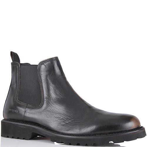 Мужские ботинки Samsonite из гладкой кожи черного цвета с эффектом потертостей, фото