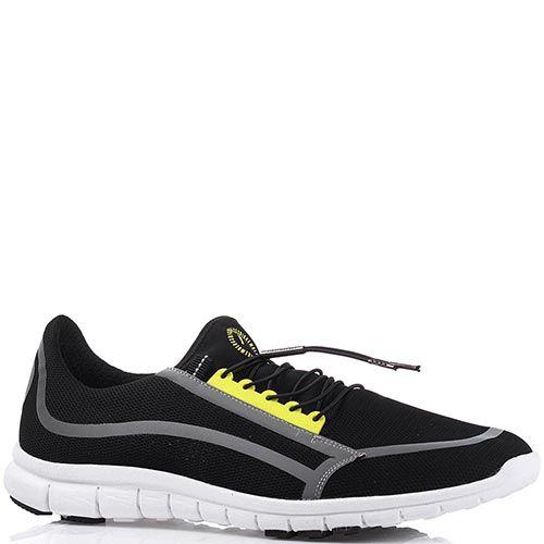 Легкие мужские кроссовки Bikkembergs из текстиля черного цвета, фото