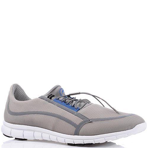 Легкие мужские кроссовки Bikkembergs светло-серого цвета, фото