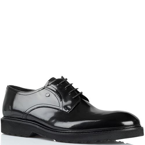 Туфли из полированной кожи черного цвета Roberto Serpentini на толстой подошве, фото