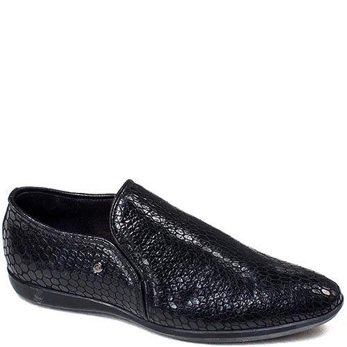 Мужские туфли Modus Vivendi из черной перфорированной кожи, фото