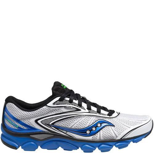 Беговые мужские кроссовки Saucony Virrata 2 черно-белые с синим, фото