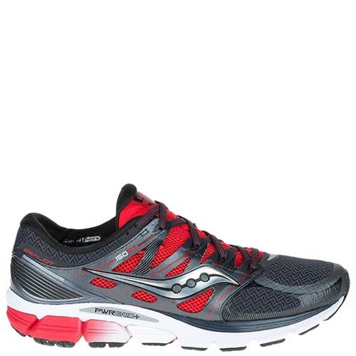 Мужские кроссовки Saucony ZEALOT ISO 2016'SS серые с красными элементами, фото