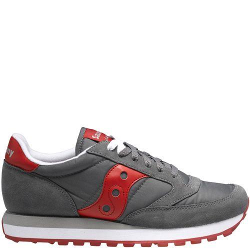 Мужские кроссовки Saucony Jazz Original темно-серые с красным, фото