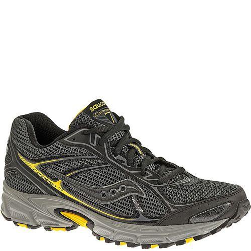 Мужские беговые кроссовки Saucony Cohesion TR7 серо-черные с желтым, фото