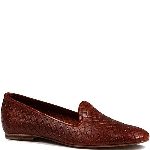 Мужские туфли Modus Vivendi из плетеной кожи коричневого цвета, фото
