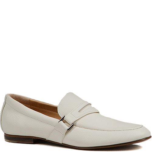 Мужские туфли Modus Vivendi из натуральной кожи молочного цвета, фото