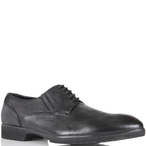 Мужские туфли Pakerson из зернистой кожи со вставками из нубука, фото