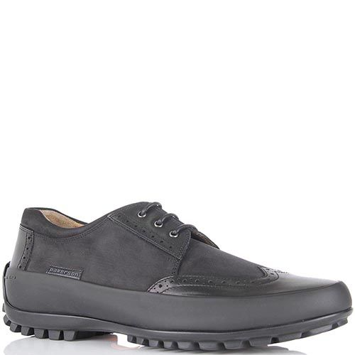 Спортивные туфли Pakerson из натуральной кожи и нубука черного цвета, фото